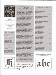 Illuminations, issue 111; Table of Contents