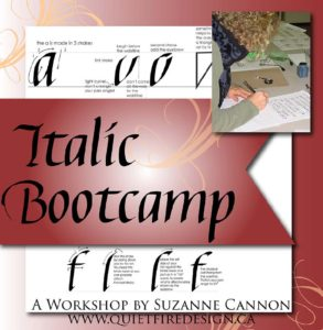 Italics with Suzanne Cannon @ Burnaby Lake Sports Complex West